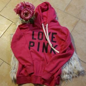 Victoria Secret pink zip up.hoodie swester.